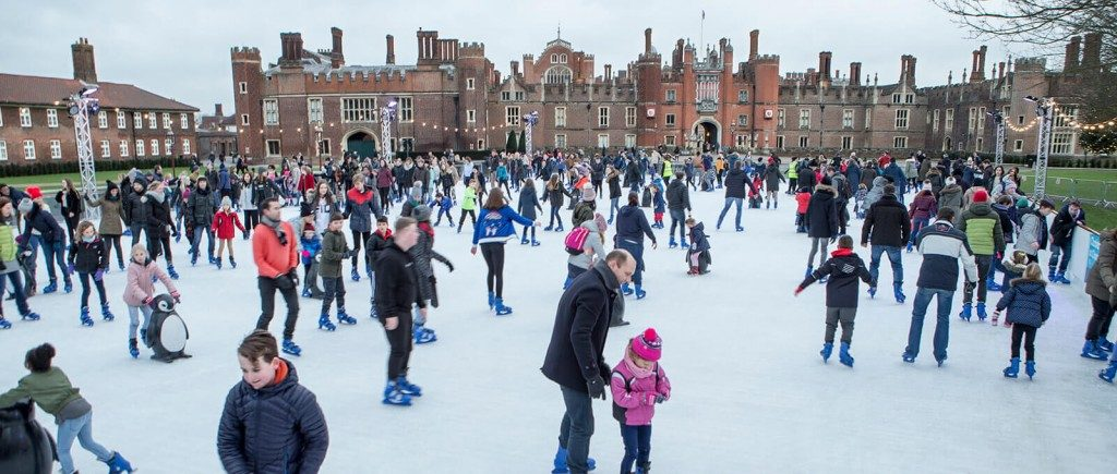 Hampton Court's permanent ice-skating rink