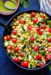Corn and Cherry Tomatoes Salad