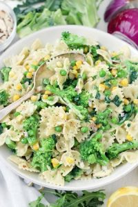 Pasta frozen veggies meal